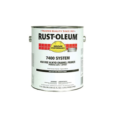 Rust-Oleum® 1069402 7400 System 1-Component Heavy Duty Rust-Inhibitive Primer, 1 gal Container, Liquid Form, Red, 230 to 390 sq-ft/gal Coverage