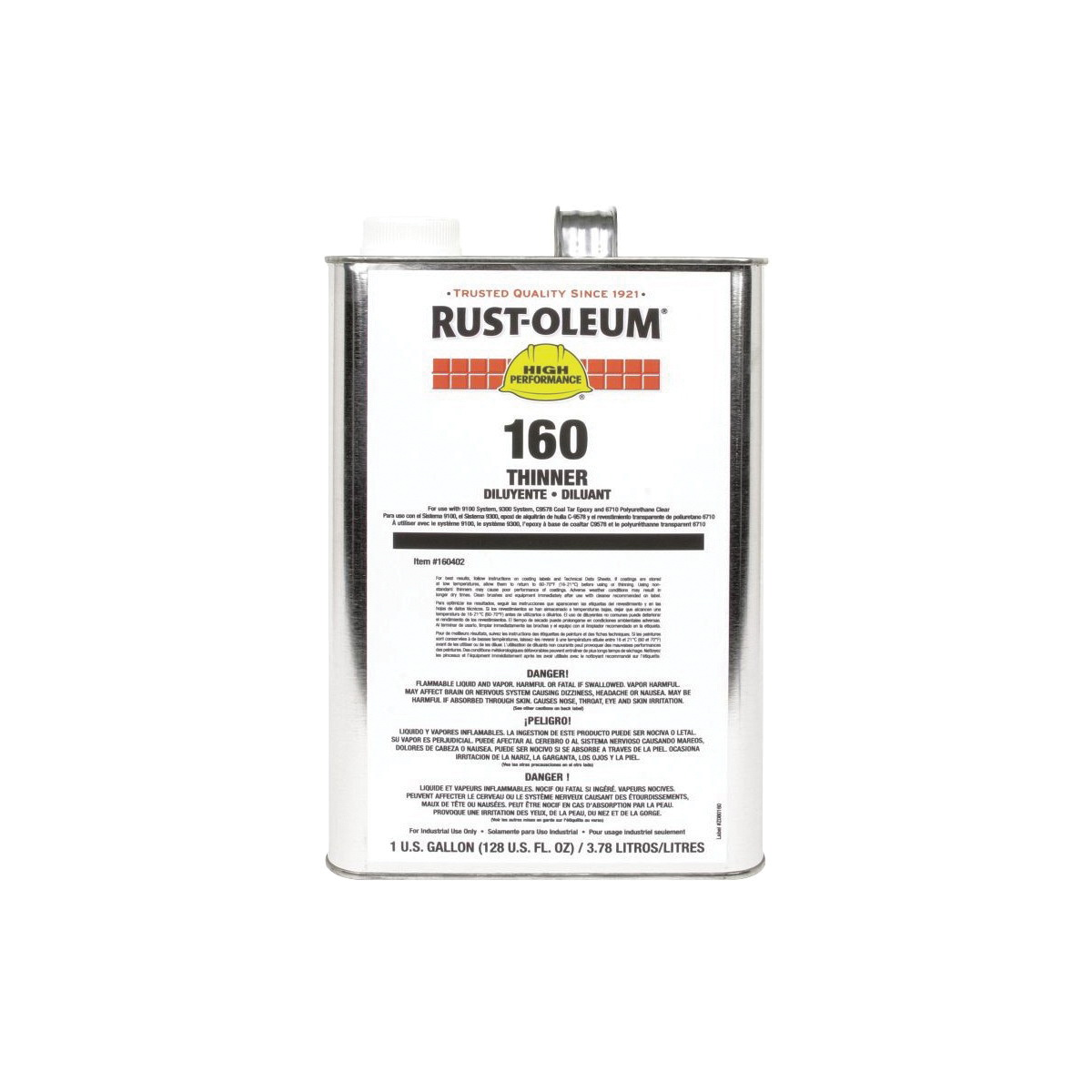 Rust-Oleum® 160402 9100 System Paint Thinner, 1 gal Can, Liquid Form, Clear