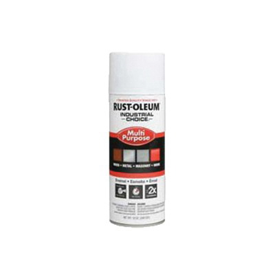Rust-Oleum® 1681830 1600 System Multi-Purpose Enamel Spray Primer, 12 oz Container, Liquid Form, White, 12 to 15 sq-ft/can Coverage
