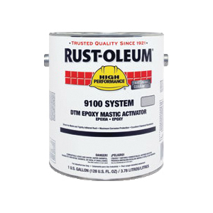 Rust-Oleum® Steel-Tech™ 9102402 9100 System 2-Component Immersion Epoxy Mastic Activator, 1 gal Container, Liquid Form, Metallic Gray, 125 to 225 sq-ft/gal Coverage