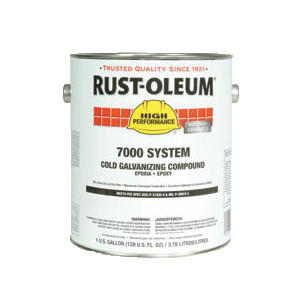 Rust-Oleum® 206193 7000 System 1-Component Cold Galvanizing Compound, 1 gal Can, Gray, 310 to 440 sq-ft/gal Coverage