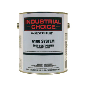 Rust-Oleum® 206329 6100 System 1-Component Fast Dry Shop Coat Primer, 1 gal Container, Liquid Form, Red, 315 to 525 sq-ft/gal Coverage
