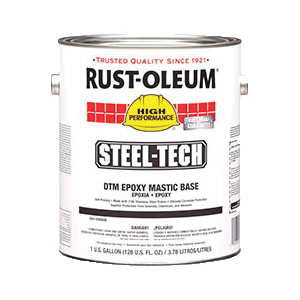Rust-Oleum® 266698 High Build Epoxy Mastic Base, 1 gal, Solvent Base, Aliphatic Amine Converted Epoxy Resin, Metallic Gray