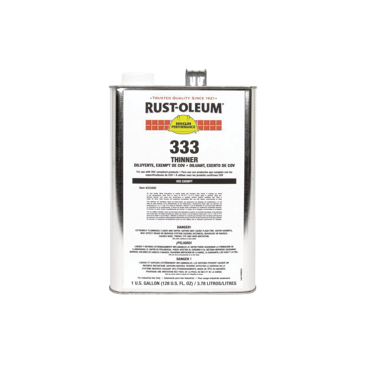 Rust-Oleum® 333402 Paint Thinner, 1 gal Can, Liquid Form, Clear