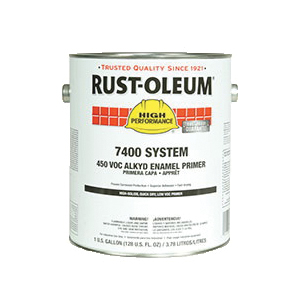 Rust-Oleum® 7086402 7400 System 1-Component Quick-Dry Fast Recoat Primer, 1 gal Container, Liquid Form, Gray, 230 to 390 sq-ft/gal Coverage