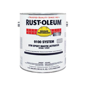 Rust-Oleum® Steel-Tech™ 9101402 9100 System Standard Epoxy Mastic Activator, 1 gal Container, Liquid Form, Metallic Gray, 125 to 225 sq-ft/gal Coverage