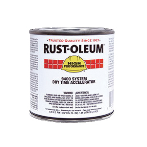 Rust-Oleum® 9402730 9400 System Polyester Urethane Accelerator, 1 gal Container, Liquid Form, Clear Glass, 480 to 950 sq-ft/gal Coverage