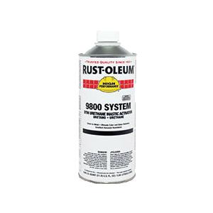 Rust-Oleum® 9801501 9800 System 2-Component DTM Urethane Mastic Activator, 1 qt Container, Liquid Form, 160 to 280 sq-ft/gal Coverage
