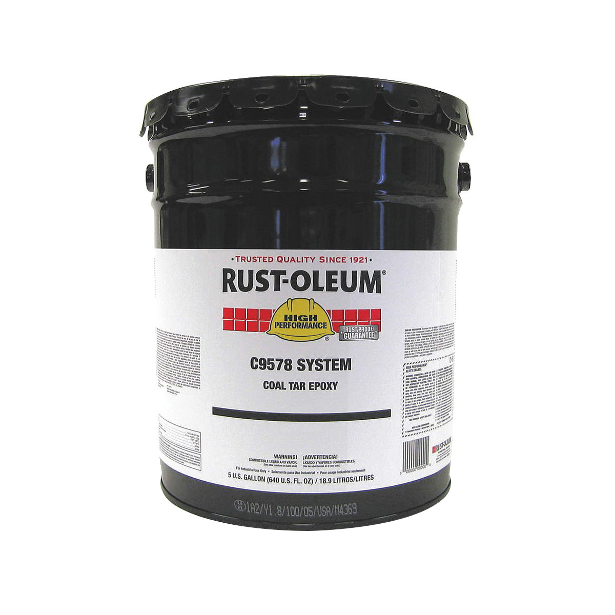 Rust-Oleum® C9578380 C9578 System Coal Tar Epoxy Base, 5 gal Pail, Oil Base, Polyamide Converted Epoxy Blended with Refined Coal Tar Resin, Black