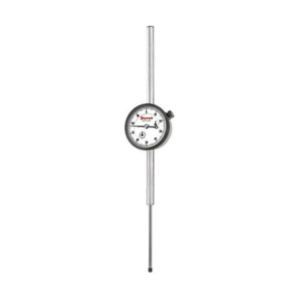 Starrett® 25-3041J 25 Series AGD Group 2 Continuous Dial Dial Indicator, 3 in, 0 to 100 Dial Reading, 0.001 in, 2-1/4 in Dial