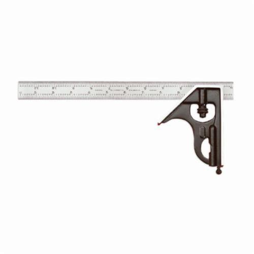 Starrett® 33H-6-16R Combination Square Set, 2 Pieces, 6 in L, Forged Steel Blade, Square Head