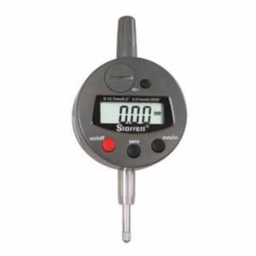 Starrett® 3600M-5 3600 Global Series® Electronic Indicator, 12.7 mm Measuring, +/-0.003 mm Accuracy, 0.01 mm Resolution, LCD Display