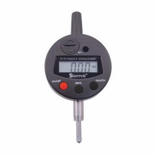 Starrett® 3600-5 Digital Electronic Indicator, 1/2 in Measuring, 0.0005 in Resolution, LCD Display