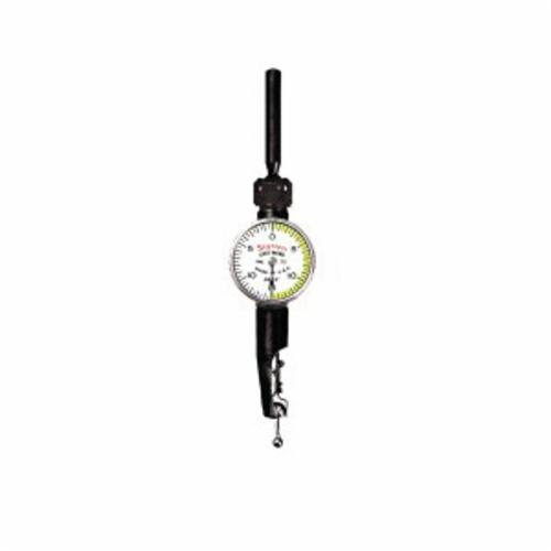 Starrett® 711LPSZ 711 Last Word® Shaded Dial Dial Test Indicator, 0.03 in Measuring, 0 to 15 to 0 Dial Reading, Graduations 0.0005 in, 15/16 in Dial, 5/32 in L Tip