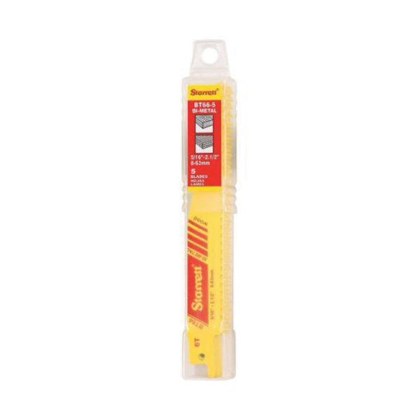 Starrett® BT66-5 General Purpose Reciprocating Saw Blade, 6 in L x 3/4 in W, 6, Bi-Metal Body, Universal/Toothed Edge Tang