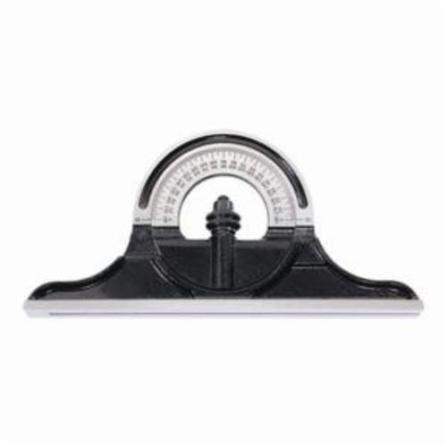 Starrett® PNR-1224W Non-Reversible Protractor Head, For Use With Combination Square, Combination Sets and Bevel Protractor, Cast Iron, Black Wrinkle