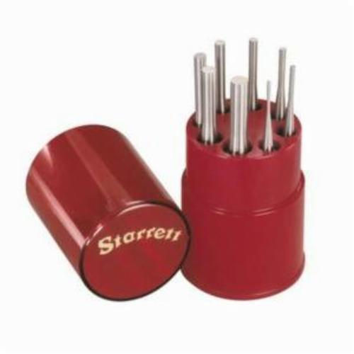 Starrett® S565WB Drive Pin Punch Set, Long Drive Style, 1/16 to 5/16 in Punch, 8 Pieces