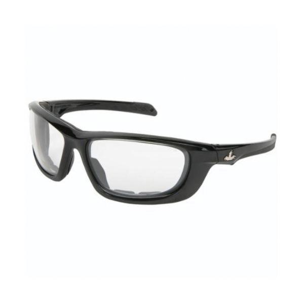U.S. Safety™ UD210PF USS Defense UD2 Premium Dual Lens Safety Glasses, MAX6™ Anti-Fog, Clear Lens, Black, Polycarbonate Frame, ANSI Z87+, MIL-PRF-31013