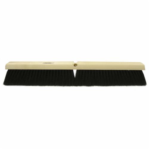 Vortec Pro® 25231 Threaded Tip Push Broom, 18 in OAL, 3 in Trim, Medium Sweep Face, Black Tampico Bristle