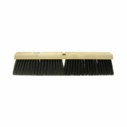 Perma-Sweep™ 42167 Push Broom, 18 in OAL, 3 in Trim, Coarse Sweep Face, Maroon Polypropylene Bristle
