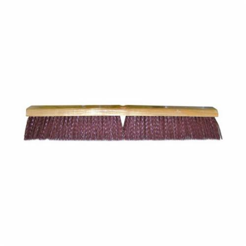 Vortec Pro® 25238 Threaded Tip Push Broom, 18 in OAL, 3-1/4 in Trim, Maroon Polypropylene Bristle