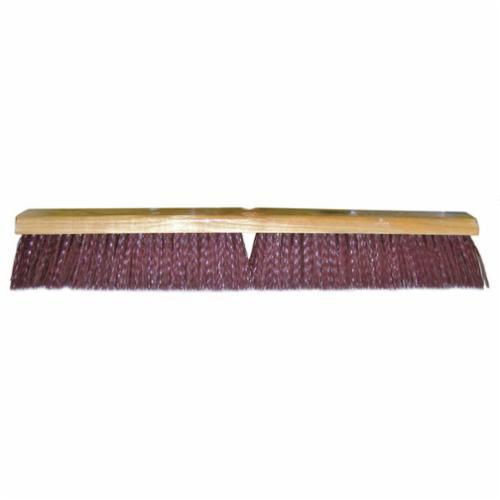 Vortec Pro® 25239 Threaded Tip Push Broom, 24 in OAL, 3-1/4 in Trim, Maroon Polypropylene Bristle