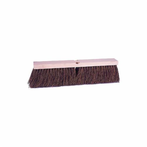 Vortec Pro® 25241 Threaded Tip Push Broom, 18 in OAL, 4 in Trim, Brown Palmyra Bristle