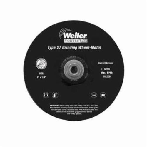 Vortec Pro®Wolverine™ 56278 Type 27 Cut-Off Wheel, 6 in Dia x 3/32 in THK, 5/8 in Center Hole, A24R Grit, Aluminum Oxide Abrasive