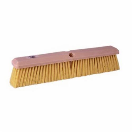 Perma-Sweep™ 42165 Push Broom, 18 in OAL, 3 in Trim, Medium Sweep Face, Yellow Polypropylene Bristle
