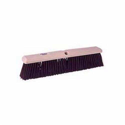 Perma-Sweep™ 42168 Push Broom, 24 in OAL, 3 in Trim, Coarse Sweep Face, Maroon Polypropylene Bristle