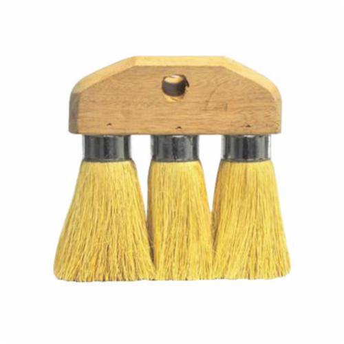 Weiler® 44010 3-Knot Roof Brush, 6-1/4 in Block, 6-1/4 in OAL, 3-1/4 in L Tampico Trim