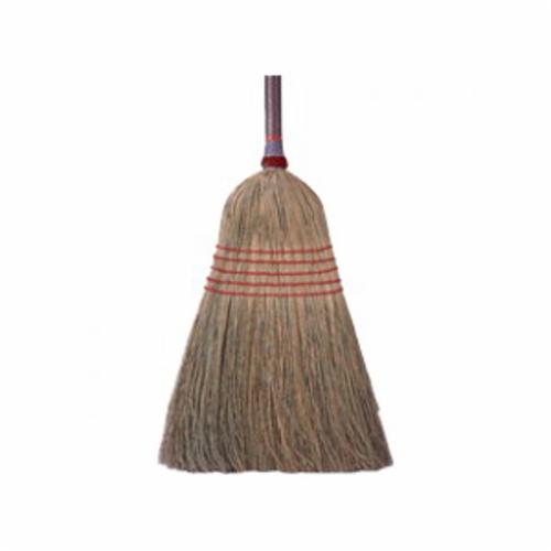 Weiler® 44547 Household Upright Broom, Corn/Fiber Bristle, 15 in L Trim, Wood Handle, 54 in OAL