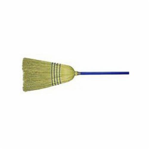 Weiler® 44548 Light Industrial Upright Broom, Corn/Fiber Bristle, 17 in L Trim, Wood Handle, 57 in OAL