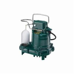 Zoeller® 53-0001 Mighty-Mate M53 Automatic Effluent/Dewatering Submersible Pump, 43 gpm Flow Rate, 1-1/2 in Outlet, 1 ph, 3/10 hp, Cast Iron