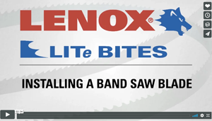 Installling a Band Saw Blade - Lenox - Video