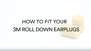 How to Fit Roll Down Earplugs - 3M - Video