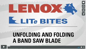 Unfolding or Folding a Band Saw Blade - Lenox - Video
