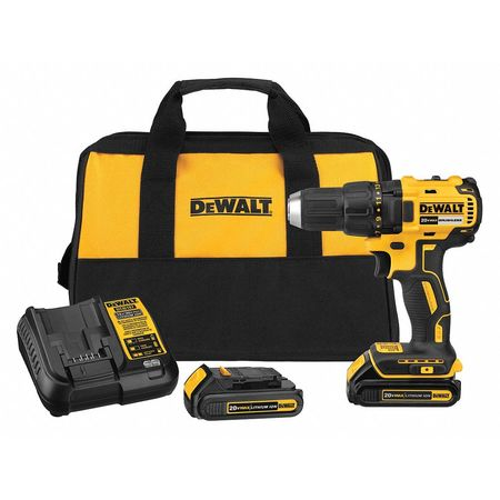 DeWALT® 20V MAX* MATRIX™ DCD777C2 Compact Brushless, 1/2 in Chuck, 20 VDC, 0 to 1600 rpm No-Load, 7-33/64 in OAL, Lithium-Ion Battery