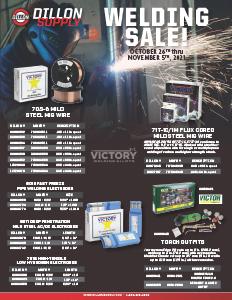 Welding Sale Flyer - 10/26-11/5