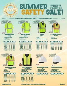Summer Safety Sale Flyer - 4/15-9/30