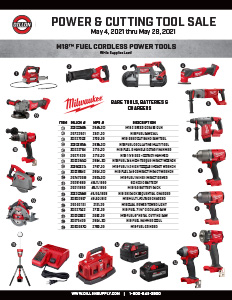 Power Tool & Abrasives Telesales Flyer - 5/4-5/28