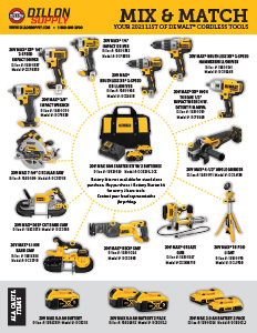 Dewalt Mix and Match Cordless Tool Promotion
