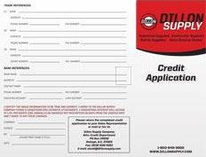 account application PDF form