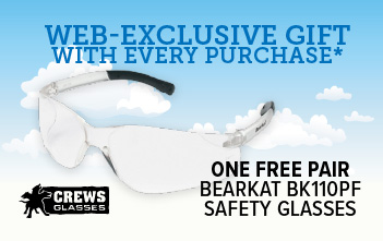Free Bearkat glasses with each purchase, limit 3 free pairs per account