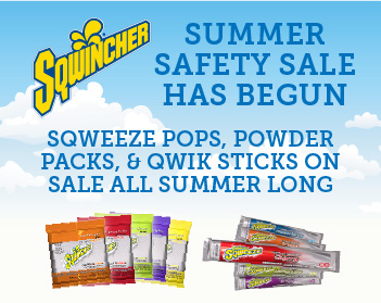 Summer Safety Sale Has Begun - Sqwincher products - sqweeze pops, powder packs