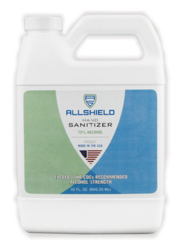 Allshield 22532 Gel Hand Sanitizer, 32oz