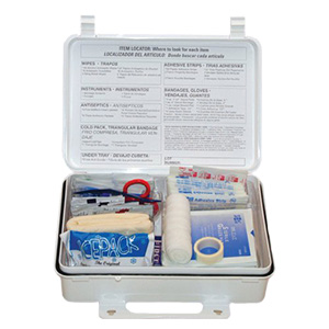First Aid Only® 6082 First Aid Kit, 95 Components, Plastic Case, 6.31 in H x 9.06 in W x 2.38 in D