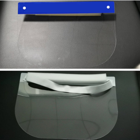 Opsial PVC Faceshield with Elastic Foam Headband
