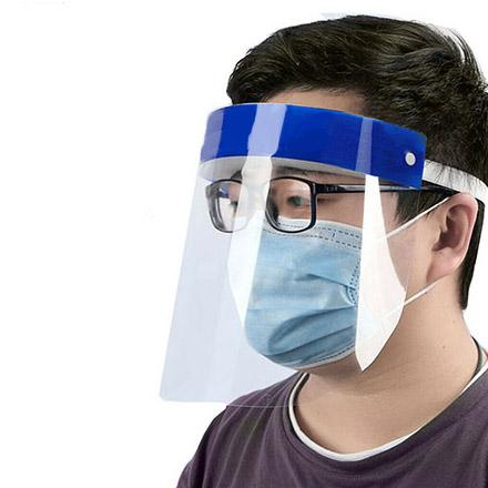 PVC Faceshield with Elastic Foam Headband