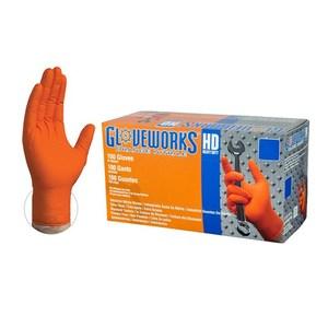 Gloveworks® HD Orange Nitrile Disposable Gloves (100/Box)